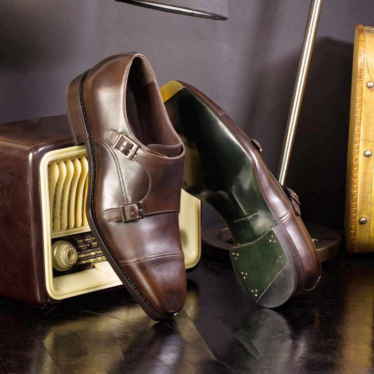 Double Monk Brown wedding shoes